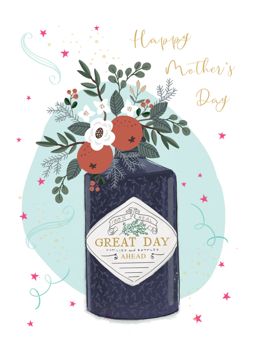 Happy Mother's Day Floral Gin