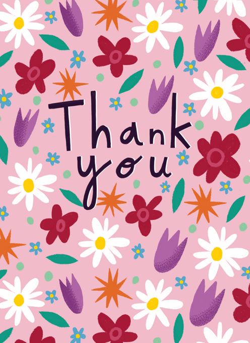 Pretty Flower Thank you