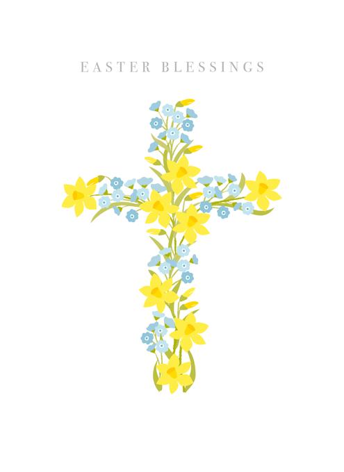 Easter Daffodil Cross