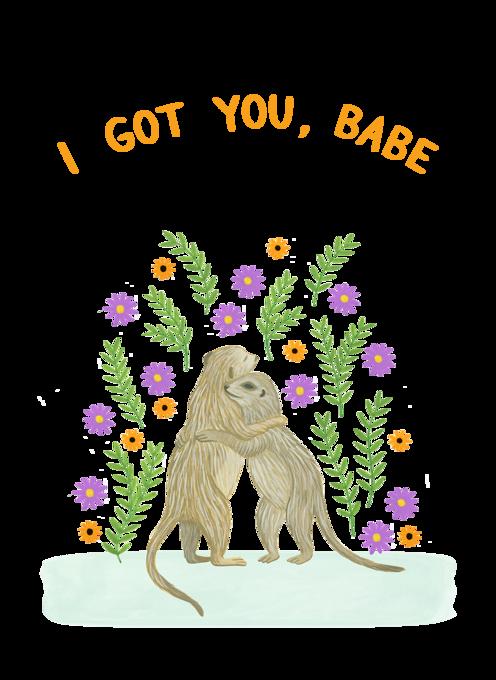 Hugging Meerkats Sympathy Card