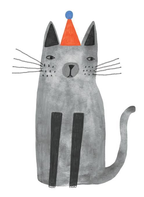 Grumpy Party Cat