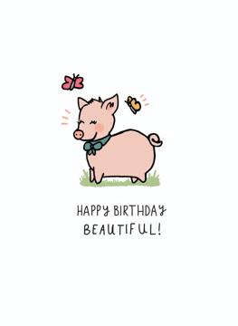 Happy Birthday Beautiful Piggy