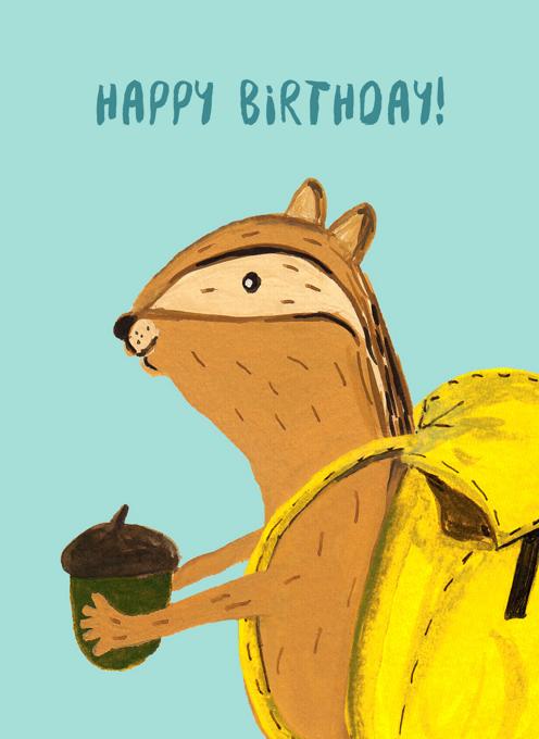 Birthday Chipmunk -Special Delivery
