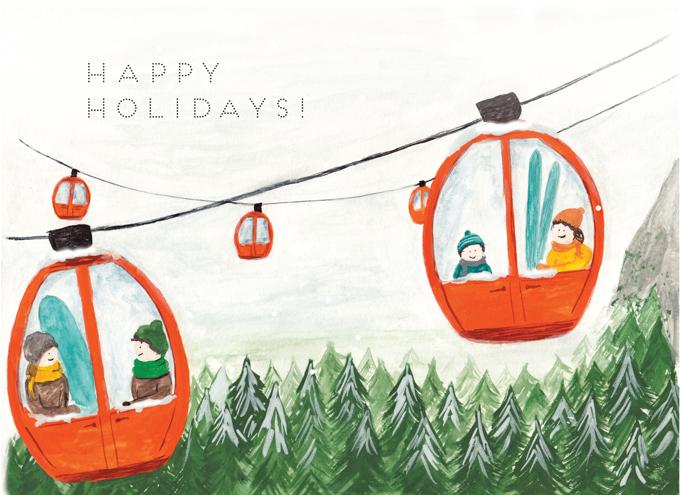 Ski Lift - Happy Holidays