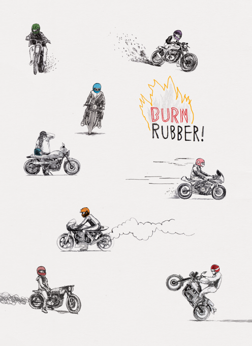Motorbikes - Burn Rubber!