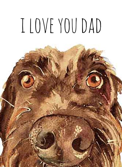 Scruffy Brown Dog Card for Dad