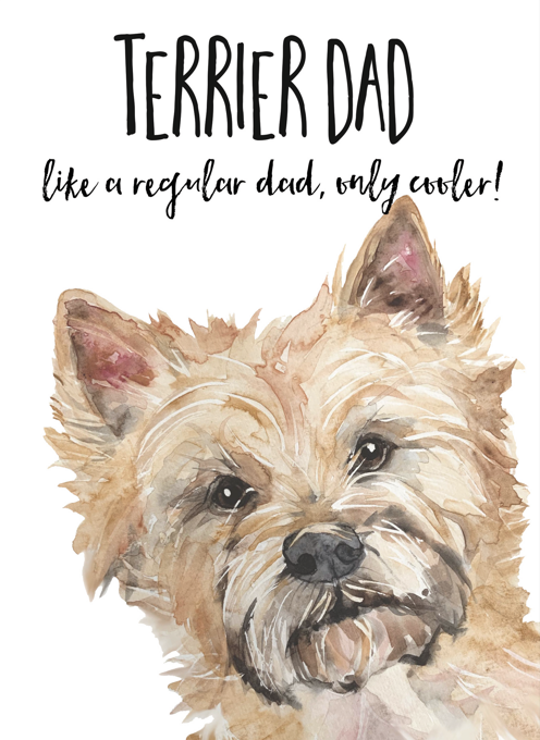 Cairn Terrier Greeting Card for Dads