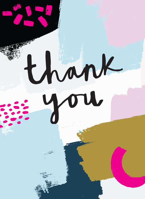 Thank You - Abstract Paint