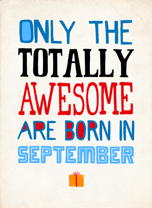 Totally Awesome Birthday In September