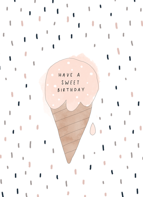 Sweet Birthday Ice Cream