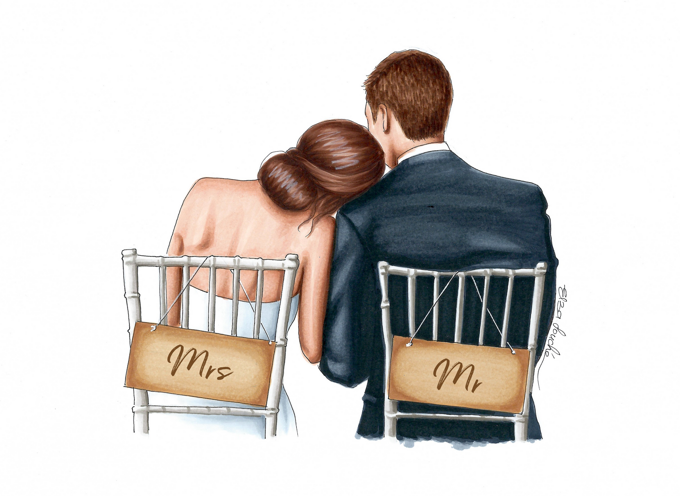 Mr and Mrs Wedding Day