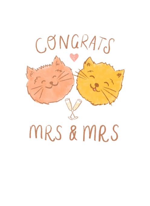 Congrats Mrs & Mrs Wedding