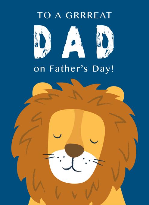 Grrreat Dad Lion