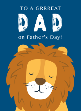 Grrreat Dad Lion