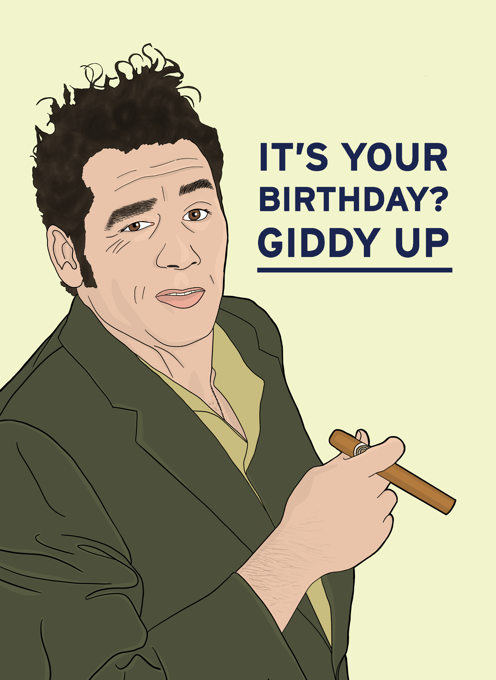 Seinfeld Birthday Card