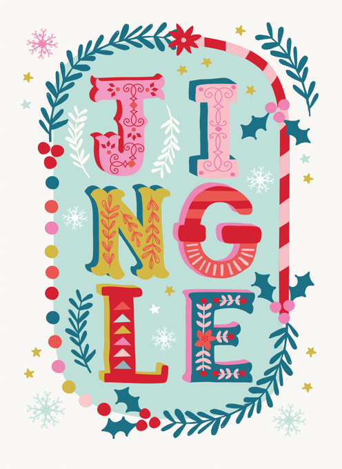 Jingle Typography Christmas