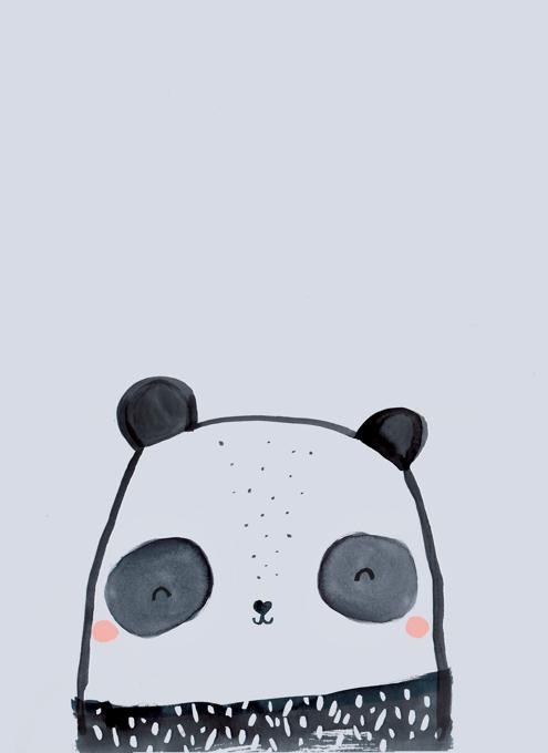 Inky Line Panda