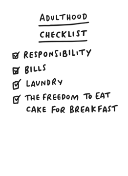 Adulthood Checklist Birthday