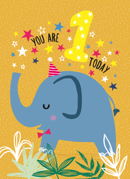 1st Birthday Elephant