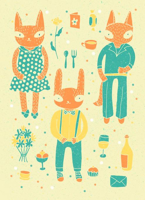 Rabbit, Cat and Fox
