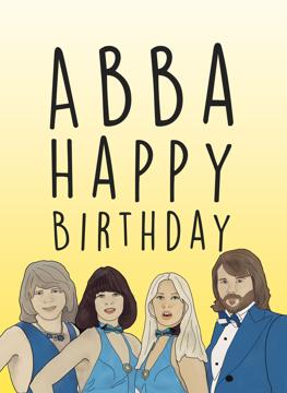 ABBA Birthday Card