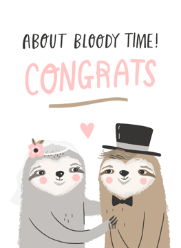 Sloth Wedding