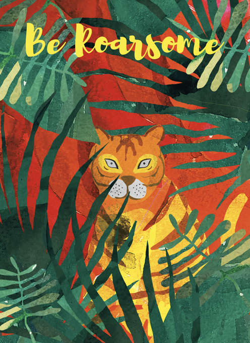 Tiger Roarsome Card