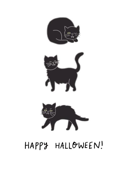 Happy Halloween Spooky Black Cat