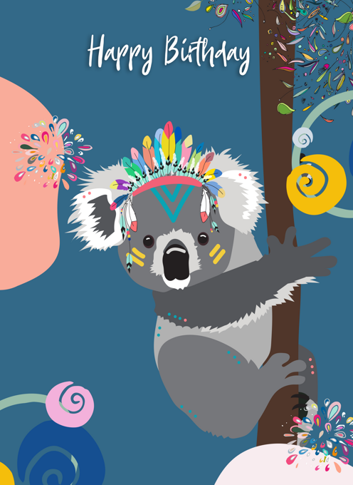 Koala Happy Birthday Card