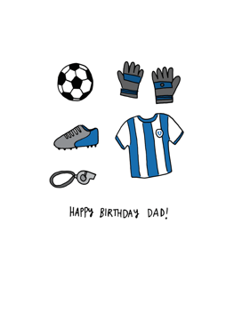 Happy Birthday Dad Football / Soccer