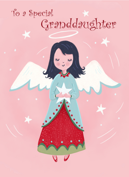 Granddaughter Christmas Holiday Angel