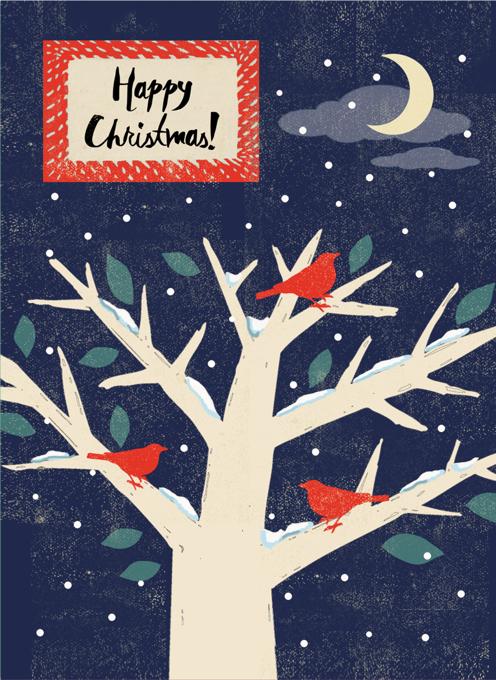 Winter Bird Christmas Card