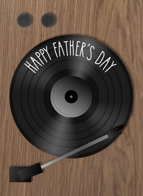 Happy Father's Day Record Player