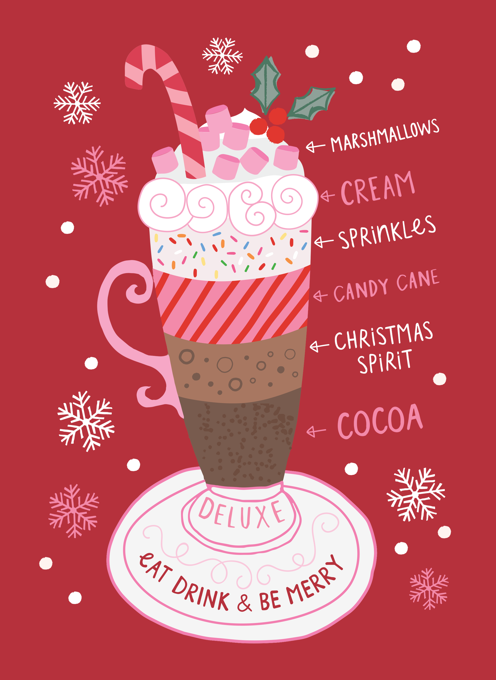 Deluxe Hot Chocolate Christmas card
