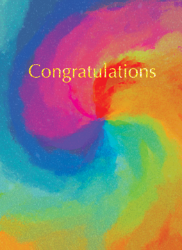 Rainbow Tie-Dye Congrats