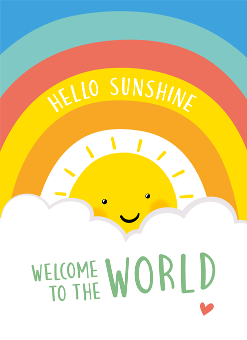 Hello Sunshine New Baby Card