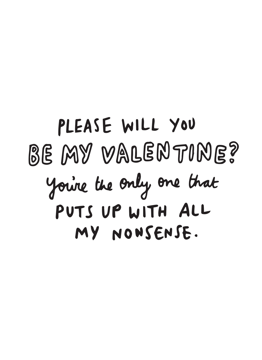 Please Will You Be My Valentine