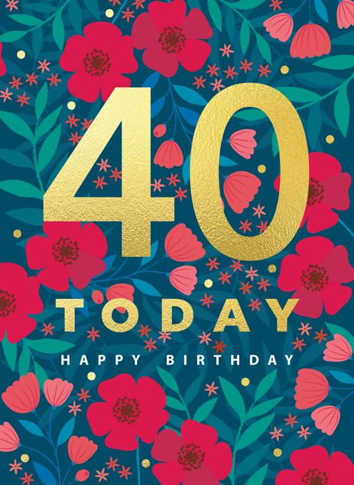 Age 40 Floral