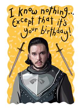 Jon Snow Birthday