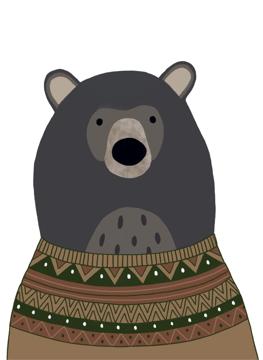 Bear in jumper