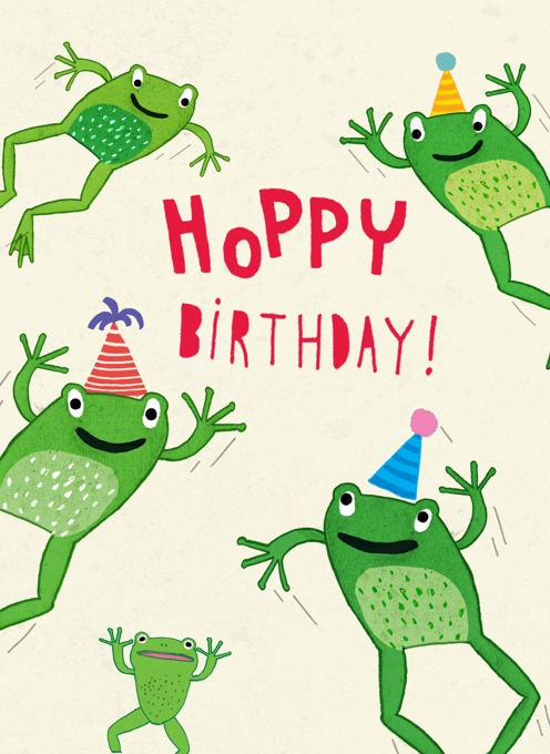 Hoppy Birthday Frogs