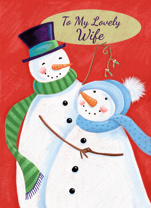 To My Lovely Wife Christmas Holiday Snowmen
