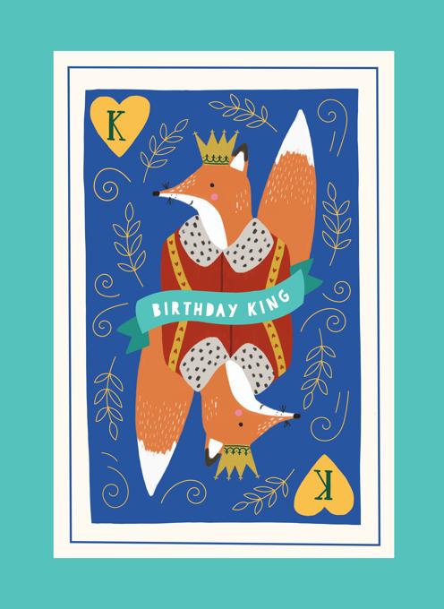 Birthday Fox King Birthday