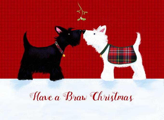 Braw Christmas Scottish Doggies