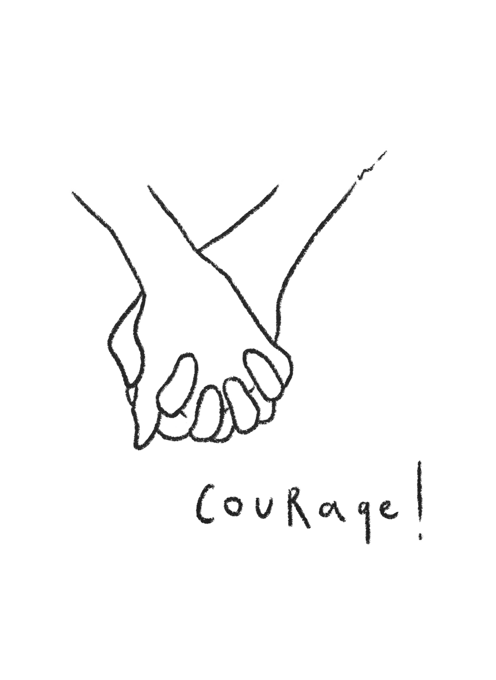 Holding Hands - Courage