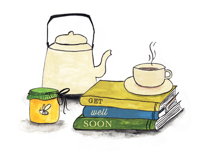 Tea and Books - Get Well Soon
