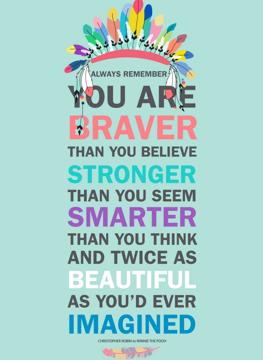 Braver, Stronger, Smarter...Inspirational Card