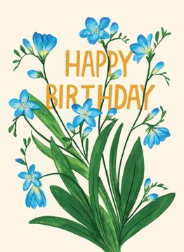 Birthday Freesias