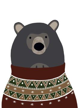 Bear in Christmas Jumper