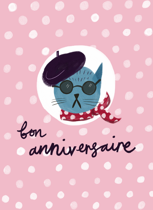 French Cat Birthday!